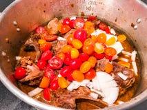Πόδια Ragu χοιρινού κρέατος στοκ εικόνες