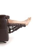 πόδια recliner Στοκ εικόνες με δικαίωμα ελεύθερης χρήσης