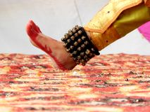 Πόδι ενός κλασσικού χορευτή στοκ φωτογραφίες