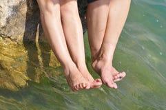 Πόδι και ύδωρ Στοκ Εικόνες