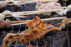 Πόδι κοτόπουλου στη σχάρα Στοκ Εικόνες