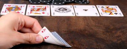 πόκερ άσσων Στοκ Φωτογραφίες