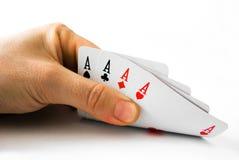 πόκερ άσσων Στοκ φωτογραφίες με δικαίωμα ελεύθερης χρήσης