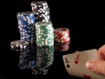 πόκερ άσσων Στοκ εικόνα με δικαίωμα ελεύθερης χρήσης