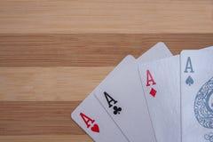 πόκερ άσσων Στοκ εικόνες με δικαίωμα ελεύθερης χρήσης