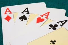 πόκερ άσσων Στοκ φωτογραφία με δικαίωμα ελεύθερης χρήσης