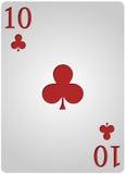 Πόκερ δέκα λεσχών καρτών Στοκ Εικόνες