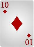 Πόκερ δέκα διαμαντιών καρτών Στοκ Φωτογραφίες