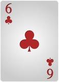 Πόκερ έξι λεσχών καρτών Στοκ Φωτογραφία