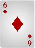 Πόκερ έξι διαμαντιών καρτών Στοκ εικόνα με δικαίωμα ελεύθερης χρήσης