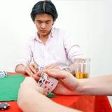 πόκερ ανταγωνιστών Στοκ Εικόνες