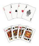 πόκερ βασιλιάδων άσσων Στοκ Εικόνα