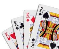 πόκερ βασιλιάδων Στοκ φωτογραφία με δικαίωμα ελεύθερης χρήσης