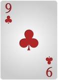 Πόκερ εννέα λεσχών καρτών Στοκ Εικόνες