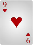 Πόκερ εννέα καρδιών καρτών Στοκ φωτογραφία με δικαίωμα ελεύθερης χρήσης
