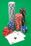 πόκερ εξοπλισμού Στοκ Εικόνες