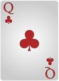 Πόκερ λεσχών καρτών βασίλισσας Στοκ φωτογραφίες με δικαίωμα ελεύθερης χρήσης
