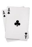 πόκερ ζευγαριού καρτών άσσων Στοκ Φωτογραφίες