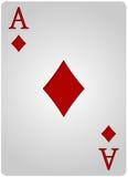 Πόκερ διαμαντιών καρτών άσσων Στοκ Φωτογραφία