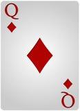 Πόκερ διαμαντιών καρτών βασίλισσας Στοκ φωτογραφία με δικαίωμα ελεύθερης χρήσης