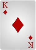 Πόκερ διαμαντιών καρτών βασιλιάδων Στοκ εικόνα με δικαίωμα ελεύθερης χρήσης