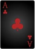 Πόκερ καρτών λεσχών άσσων Στοκ Φωτογραφίες