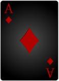 Πόκερ καρτών διαμαντιών άσσων Στοκ εικόνες με δικαίωμα ελεύθερης χρήσης