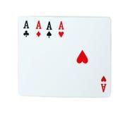 Πόκερ καρτών παιχνιδιού άσσων Στοκ φωτογραφία με δικαίωμα ελεύθερης χρήσης