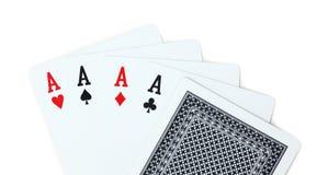 Πόκερ καρτών παιχνιδιού άσσων Στοκ Φωτογραφία