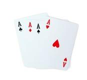 Πόκερ καρτών παιχνιδιού άσσων Στοκ εικόνα με δικαίωμα ελεύθερης χρήσης