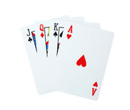 Πόκερ καρτών παιχνιδιού Στοκ Εικόνες