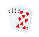 Πόκερ καρτών παιχνιδιού Στοκ εικόνες με δικαίωμα ελεύθερης χρήσης