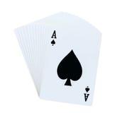 Πόκερ καρτών παιχνιδιού Στοκ εικόνα με δικαίωμα ελεύθερης χρήσης
