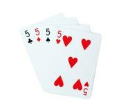 Πόκερ καρτών παιχνιδιού Στοκ φωτογραφίες με δικαίωμα ελεύθερης χρήσης