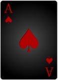 Πόκερ καρτών φτυαριών άσσων Στοκ Φωτογραφίες