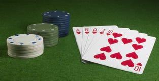 πόκερ καρτών Στοκ Εικόνες