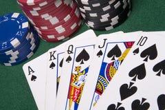 πόκερ καρτών Στοκ φωτογραφίες με δικαίωμα ελεύθερης χρήσης