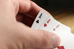 πόκερ καρτών Στοκ Φωτογραφίες