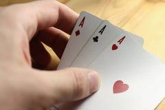 πόκερ καρτών στοκ φωτογραφία