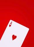 πόκερ καρδιών άσσων Στοκ Εικόνες