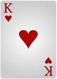 Πόκερ καρδιών καρτών βασιλιάδων Στοκ Εικόνα