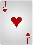 Πόκερ καρδιών καρτών του Jack Στοκ εικόνα με δικαίωμα ελεύθερης χρήσης