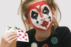 πόκερ κοριτσιών Στοκ Εικόνα