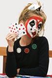 πόκερ κοριτσιών Στοκ εικόνα με δικαίωμα ελεύθερης χρήσης