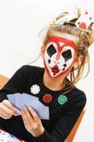 πόκερ κοριτσιών Στοκ φωτογραφία με δικαίωμα ελεύθερης χρήσης