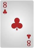 Πόκερ οκτώ λεσχών καρτών Στοκ φωτογραφία με δικαίωμα ελεύθερης χρήσης