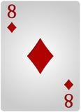 Πόκερ οκτώ διαμαντιών καρτών Στοκ Φωτογραφία