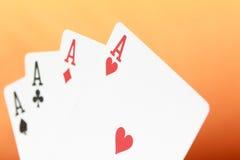 Πόκερ, παιχνίδι καρτών Στοκ φωτογραφία με δικαίωμα ελεύθερης χρήσης