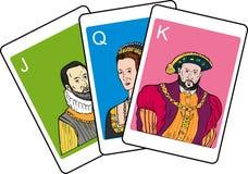 πόκερ παιχνιδιού καρτών ελεύθερη απεικόνιση δικαιώματος