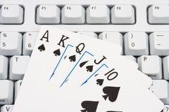 Πόκερ παιχνιδιού σε απευθείας σύνδεση Στοκ φωτογραφίες με δικαίωμα ελεύθερης χρήσης